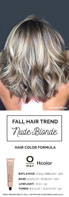 2016 Fall/Winter Hair Color Trends Guide Blonde hair for fall and winter Nude blonde is dimensional and perfect for most any skin tone, channeling ashy cool, neutral and warm tones. Formula with Oway Hcolor by Lori Babb – Station Of Colored Hairs Blonde Lowlights, Hair Highlights And Lowlights, Color Highlights, Cool Blonde Highlights, Dimensional Highlights, Chunky Highlights, Dimensional Blonde, Caramel Highlights, Fall Winter Hair Color