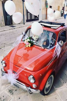 Vintage Wedding Car Decorations Ideas ❤ See more: http://www.weddingforward.com/wedding-car-decorations/ #weddingforward #bride #bridal #wedding