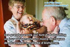 Il vient d'être montré par une étude très sérieuse que garder ses petits-enfants augmente les fonctions cognitives, réduit le risque de démence et le risque de développer la maladie d'Alzheimer.  Découvrez l'astuce ici : http://www.comment-economiser.fr/conseils-pour-eviter-alzheimer.html?utm_content=buffer9f079&utm_medium=social&utm_source=pinterest.com&utm_campaign=buffer