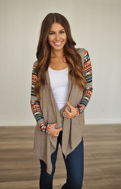 Dottie Couture Boutique - Mocha Open Sweater*, $48.00 (http://www.dottiecouture.com/mocha-open-sweater/)
