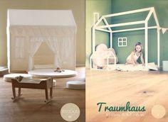 """Kinderbetten - TRAUMHAUS """"ZOE"""" ♥ Stoff & Holz - ein Designerstück von Babika-Zoe bei DaWanda"""