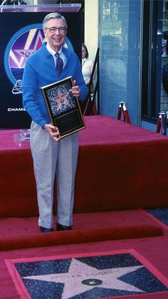 Fred Rogers receives a star on the Hollywood Walk of Fame. - See more at: http://www.fredrogers.org/fred-rogers/bio/#sthash.Ul9ooKNh.dpuf
