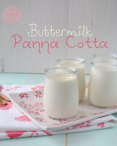 Buttermilk Panna Cotta Receta en español
