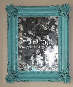 Doodle Craft...: Acid Etched Mirror Redo!