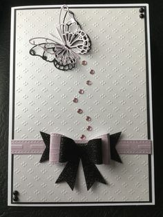 By Dianne Potter:Memory Box butterfly die,Sue Wilson for Creative Expressions Classic bow die