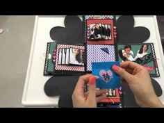 Explosion box / birthday box / diy / handmade / falling card - YouTube