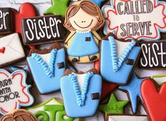 Learn how to make easy decorated sugar cookies for an LDS Sister Missionary.