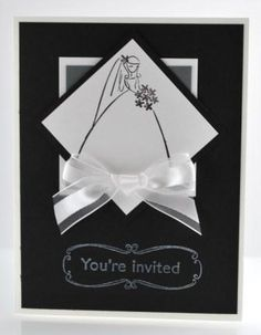 Handstamped Wedding Shower Invitation Card with Stampin' Up! To Have and to Hold Stamp Set