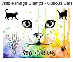 If you love cats then you will adore this set of superb stamps! Just look at that face… those eyes! Measurements: cat face 6.75cm x 6.5cm whiskers 5.5cm x 3.5cm stay curious 8.5cm x 1.5cm walking cat 4cm x 3.5cm standing cat 3.5cm x 3cm paw print 1.25cm x 1.25cm Awesome clear photopolymer stamps, deeply etched for perfectly stamped images. Designed by Visible Image and made in the UK. Available in store and online!!
