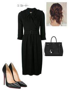 """Work"" by cgraham1 on Polyvore featuring Burberry, Christian Louboutin, Miadora and Yves Saint Laurent"