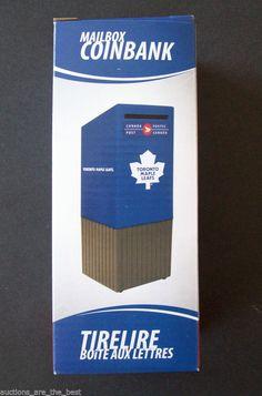NHL Toronto Maple Leafs Replica Canada Post Street Mailbox Coinbank Money Box #CanadaPost #TorontoMapleLeafs
