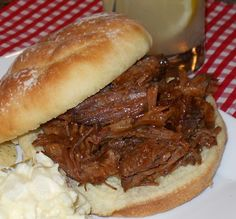 Crockpot BBQ Beef Sandwiches - This was really good, but I had to leave it in my slow cooker for 6 hours on low instead of the 4 hours that was recommended.