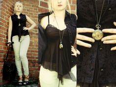 Vintage Vest, Forever 21 Watch Necklace, Zara Light Pants, F&F Vintage Bag, Vintage Romantic Top, Wojas Brown N Black Sandals