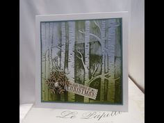 Using the Woodland Textured Impressions Embossing Folder as a Stamp - YouTube