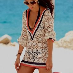 lovely look with a pretty bathing suit cover up