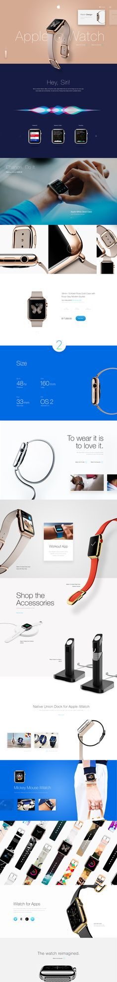Apple iWatch #redesign #webdesign #ui #ux #apple #iwatch