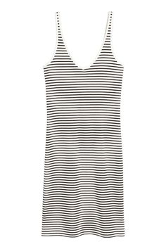 20$ Jersey dress - Natural white/Striped - Ladies | H&M CA