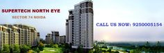 Under Construction project Supertech North Eye at Sector 74 Noida by Supertech Limited. Residential property Starting from Only. Bathroom Gallery, Joy Of Living, Multipurpose Room, Kids Play Area, Close Proximity, Site Visit, Influential People, Metro Station, Under Construction