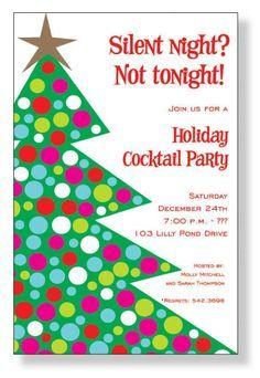 christmas party invitation wording | Homemade Christmas Party Invitations | Best Party Ideas
