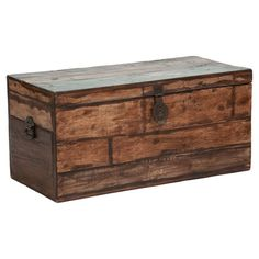 Artfully crafted of reclaimed wood, this rustic trunk is equally at home stowing extra blankets at the foot of your bed or anchoring your living room as a st...