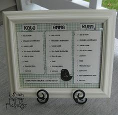 brown paper packages: {dry-erase chore chart}