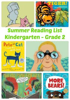 Summer reading list for Kids in Kindergarten through Grade 2 from The Jenny Evolution