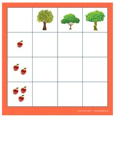 Board for the 1-2-3 apples matrix. By Autismespektrum.