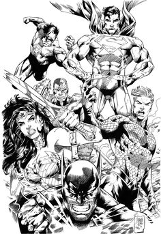 justice league comic colouring page