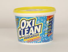I swear by this...I had brand new white table cloths that got covered in food and red wine...I soaked them in the bathtub with a ton of Oxi Clean for a week and they look brand new.