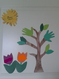 Leikkihuoneen ovenkin puu sai lehdet  :D
