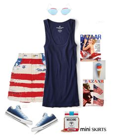 """""""Mini Me'"""" by dianefantasy ❤ liked on Polyvore featuring Marc Jacobs, American Eagle Outfitters, Converse, Moschino, Balenciaga, MINISKIRT and polyvoreeditorial"""