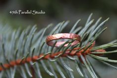 Hammered Copper Ring by 45thParallelStudio