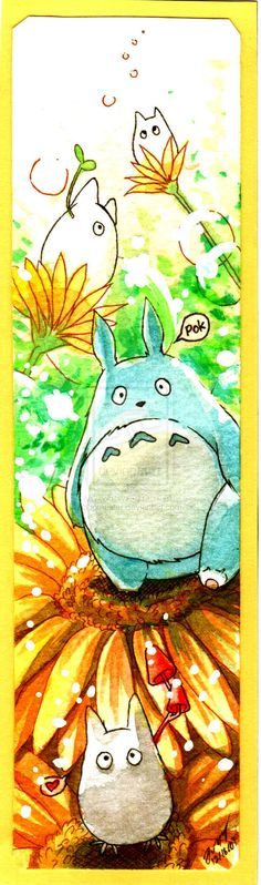 Characters from Totoro, a Japanese animated film.