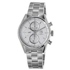 TAG Heuer Men's CAR2111.BA0720 Carrera Silver Dial Chronograph Steel Watch: Watches: Amazon.com