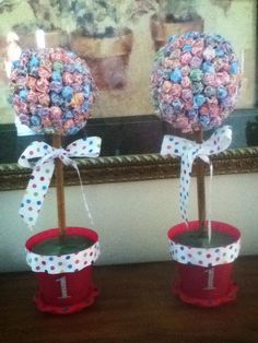 Lollipop Topiaries