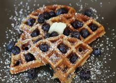 Blueberry Cinnamon Buttermilk Waffles