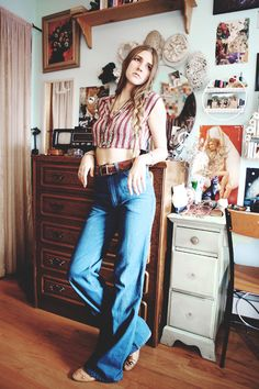Boots and Pine Folk Fashion, Spring Style, Bohemian Style, Bell Bottom Jeans, Thrifting, Spring Fashion, Pine, Laundry, Style Inspiration