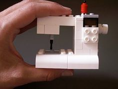 What a  fun idea & just the right size for American Girl dolls! (Isabelle) suchity such: LEGO sewing machine tutorial