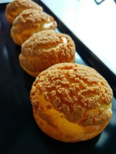 Choux au Craquelin aka French Crunchy Cream Puff