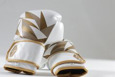 Bia White/Gold Boxing Gloves