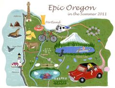 Oregon Map - Shigeko Okada