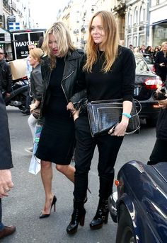 Stella McCartney - Kate Moss and Stella McCartney out in Paris