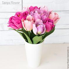 Купить Букет тюльпанов - tanya flower, букеты из глины, цветы из полимерной глины