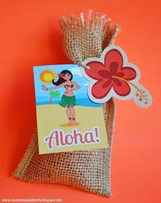 awesome for favors Moana Themed Party, Moana Birthday Party, Hawaiian Birthday, Moana Party, Hawaiian Theme, Luau Birthday, 4th Birthday Parties, Aloha Party, Luau Party