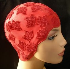 Amazon.com : Fashy Rubber Textured Retro Design Swim Cap - RED - Made in Germany : Sports & Outdoors