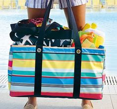 Thirty-One Gifts – It doesn\'t get much better than the Large Utility Tote!  Get your for $10 when you spend $35! #ThirtyOneGifts #ThirtyOne #Monogramming #Organization #May2018Special #LargeUtilityTote