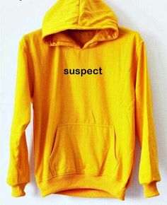 suspect yellow color Hoodies
