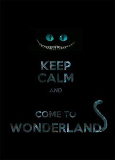 """I'm not a """"Keep Calm"""" person, but the Cheshire image on this is excellent..."""