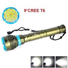 34.04$  Watch here - http://ai0hv.worlditems.win/all/product.php?id=32775522492 - New Waterproof  lanterna LED Diving flashlight 9 x CREE XML T6 14000LM LED Flashlight linternas Underwater 100M Waterproof  Lamp