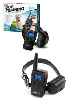 PetTech PT0Z1 Premium Dog Training Shock Collar, Fully Waterproof, 1200ft Range Dog Training Tools, Shock Collar, Find Pets, Range, Dogs, Cookers, Pet Dogs, Doggies